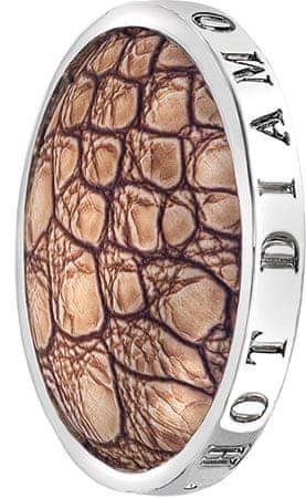Hot Diamonds Medál Emozioni Faux Crocodile Light Brown EC082-092 (átmérő 33 mm) ezüst 925/1000