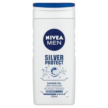 Nivea Żel pod prysznic dla mężczyzn Srebro Protect (objętość 500 ml)
