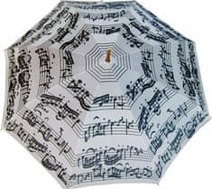 Blooming Brollies Palicový dáždnik White Music Notes LRWP877/MM
