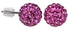 Troli Náušnice Ball PU08 Fuchsia