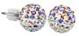 1 - Troli Kolczyki  Ball PU08 Crystal AB