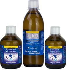 Pharma Activ Koloidné minerály 2x 300 ml + Koloidné striebro Ag100 (10ppm) 500 ml ZADARMO