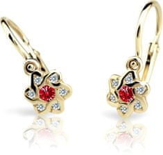 Cutie Jewellery Dětské náušnice C2149-10-X-1 zlato žluté 585/1000