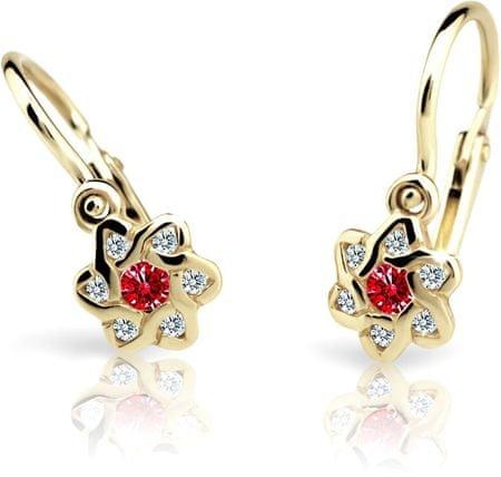 Cutie Jewellery Dětské náušnice C2149-10-X-1 (Barva červená) zlato žluté 585/1000