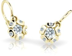 Cutie Jewellery Dětské náušnice C2178-10-X-1 zlato žluté 585/1000