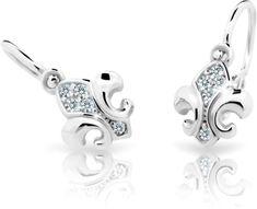 Cutie Jewellery Dětské náušnice C2219-10-10-X-2 zlato bílé 585/1000