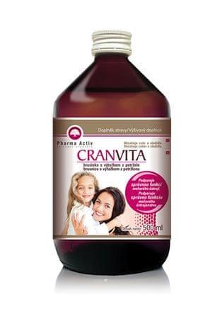 Pharma Activ Cranvita Šťáva z brusinek s výtažkem z petržele 500 ml