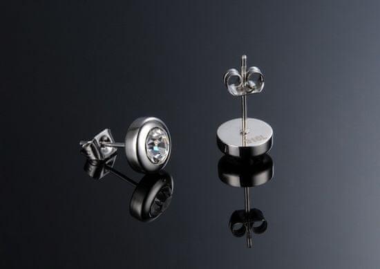 Troli Małe kolczyki z przezroczystymi kryształami KES-046
