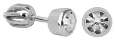 Brilio Silver Stříbrné náušnice s čirým krystalem 438 001 01163 04 - 1,12 g stříbro 925/1000