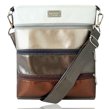 Dara bags Crossbody kabelka Dariana middle No. 197 Metalic