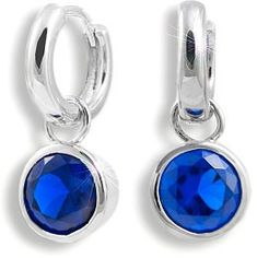 Modesi Náušnice Dark Blue QJERY3928LW stříbro 925/1000