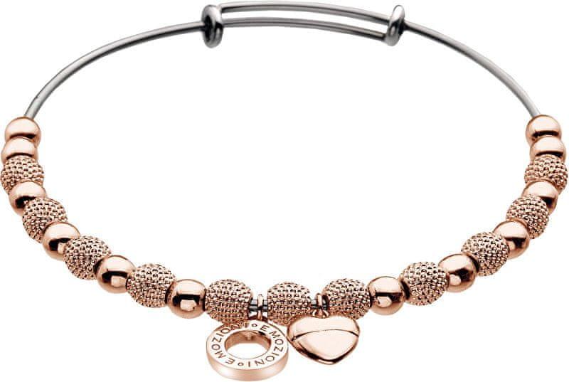 Hot Diamonds Ocelový náramek Emozioni Rose Gold Ula Bangle DC098
