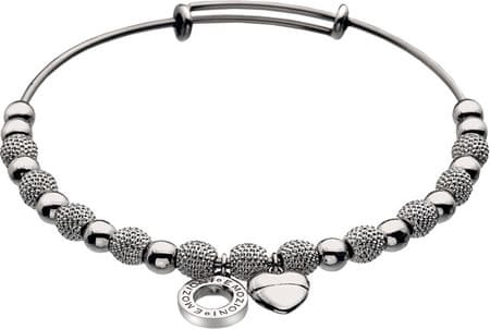 Hot Diamonds Srebrna bransoletka stalowa Emozioni Bangle Ula DC097