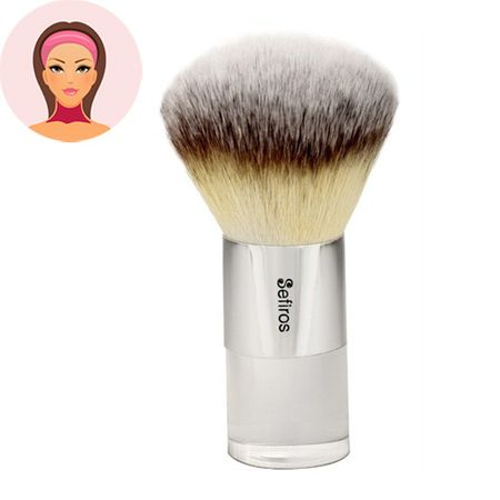 Sefiros Malý púdrovací štetec na telo Silver (Body Powder Brush Small)