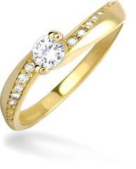 Brilio Dámsky prsteň s kryštálmi 229 001 00449 - 1,70 g žlté zlato 585/1000