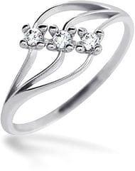 Brilio Dámsky prsteň s kameňmi 229 001 00496 07 - 1,20 g biele zlato 585/1000