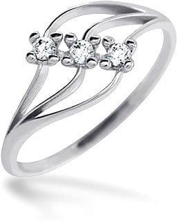 Brilio Dámsky prsteň s kameňmi 229 001 00496 07 - 1,20 g (Obvod 57 mm) biele zlato 585/1000