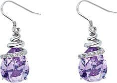 Preciosa Náušnice Elegant Violet 5027 56 stříbro 925/1000