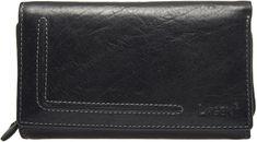 Lagen Nő fekete bőr pénztárca 32 HT / T
