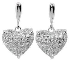 Silver Cat Stříbrné náušnice s krystaly SC006 stříbro 925/1000