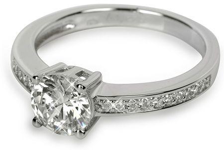 Silver Cat Stříbrný prsten s krystaly SC031 (Obvod 56 mm) stříbro 925/1000