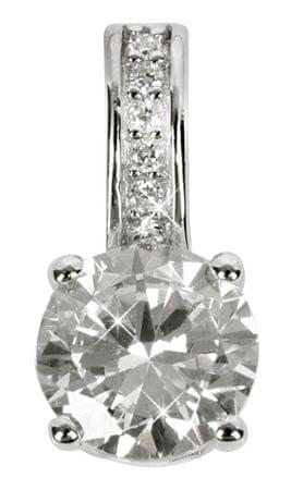 Silver Cat Ezüst medál kristályokkal SC032 ezüst 925/1000