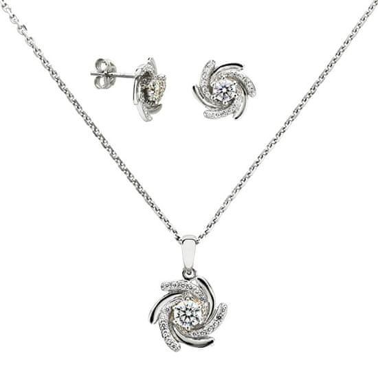 Silver Cat Stříbrný přívěsek s krystaly SC041 stříbro 925/1000