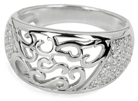 Silver Cat Ezüst gyűrű kristályokkal SC043 (áramkör 60 mm) ezüst 925/1000