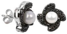 Silver Cat Stříbrné náušnice s krystaly SC063 stříbro 925/1000