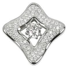 Silver Cat Ezüst medál kristályokkal SC068 ezüst 925/1000