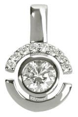 Silver Cat Ezüst medál kristályokkal SC080 ezüst 925/1000