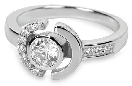 Silver Cat Ezüst gyűrű kristályokkal SC079 (áramkör 52 mm) ezüst 925/1000