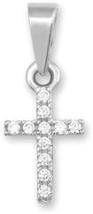 Brilio Přívěsek křížek z bílého zlata 249 001 00330 07 - 0,35 g zlato bílé 585/1000