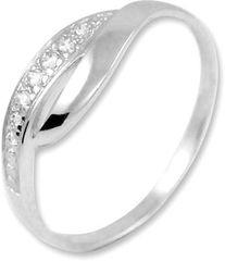 Brilio Prsten z bílého zlata s krystaly 229 001 00635 07 - 1,30 g zlato bílé 585/1000