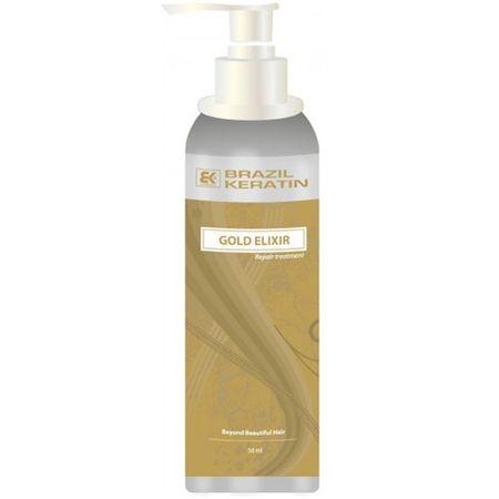 Brazil Keratin Elixír pro suché a poškozené vlasy (Gold Elixir Repair Treatment) (Objem 50 ml)