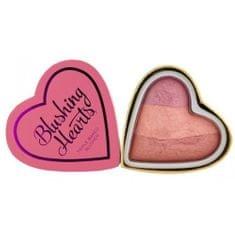 Makeup Revolution Srdcová tvářenka Vášnivé srdce I LOVE MAKEUP (Hearts Blusher Candy Queen of Hearts) 10 g