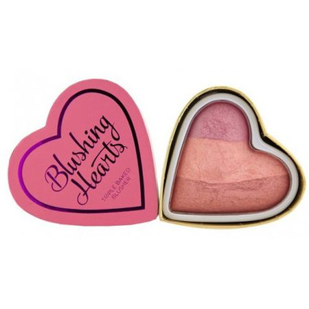 Makeup Revolution Cardiac różu namiętny serce KOCHAM kosmetyczne (różu Candy Hearts Queen of Hearts) 10 g