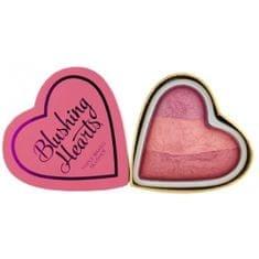 Makeup Revolution Srdcová tvářenka Stydlivé srdce (Hearts Blusher Blushing Heart) 10 g