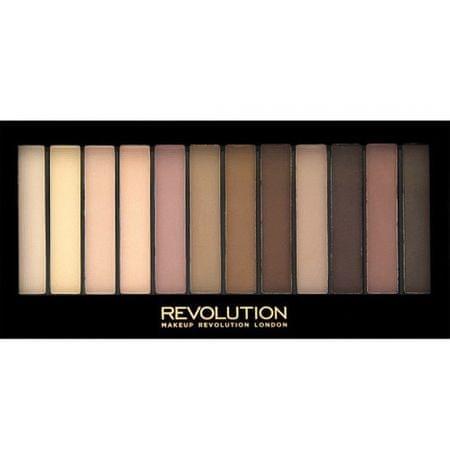 Makeup Revolution Paleta 12 cieni Olejki Mattes 2