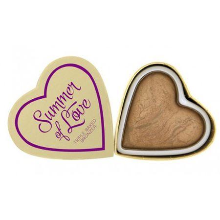 Makeup Revolution Srdcový bronzer Letná I LOVE MAKEUP (Hearts Bronzer Summer of Love) 10 g