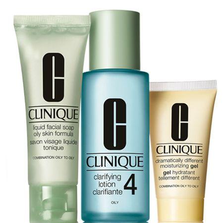Clinique Zabieg oczyszczający dla skóry tłustej (3-Step Kit Wstęp Skóra Typ 4)