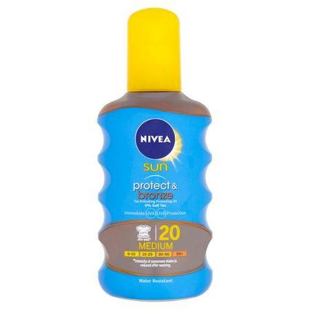 Nivea Sun barnulást elősegítő napozó olaj SPF 20 (Protect & Bronze Oil) 200 ml
