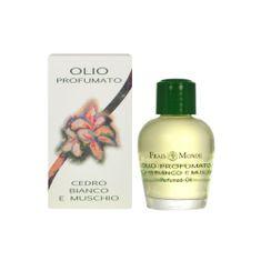 Frais Monde Parfémovaný olej Bílý cedr a mošus (White Cedar And Musk Perfumed Oil) 12 ml