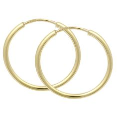 Brilio Náušnice zlaté kruhy 231 001 00278 - 1,15 g zlato žluté 585/1000