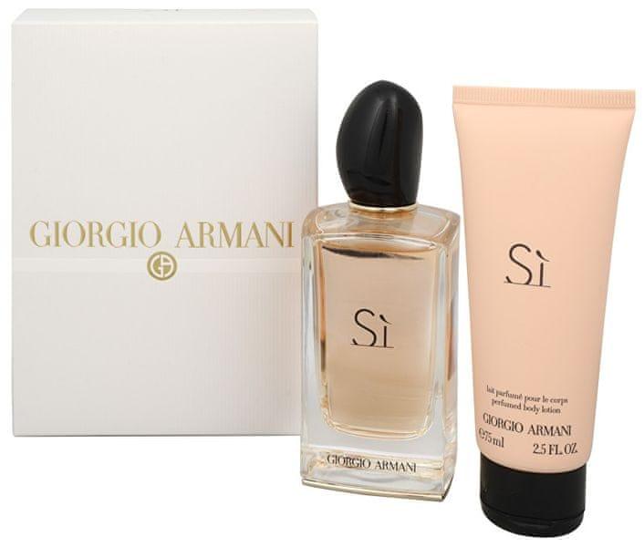 Giorgio Armani Sì - EDP 100 ml + tělové mléko 75 ml