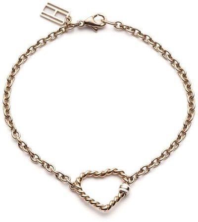 Tommy Hilfiger Vörös arany színű szív karkötő TH2700535