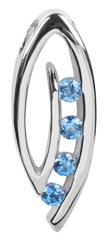 Silver Cat Ezüst medál kék kristályokkal SC137 ezüst 925/1000