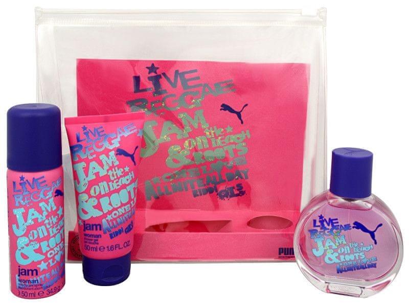 Puma Jam Woman - EDT 40 ml + deodorant ve spreji 50 ml + sprchový gel 50 ml
