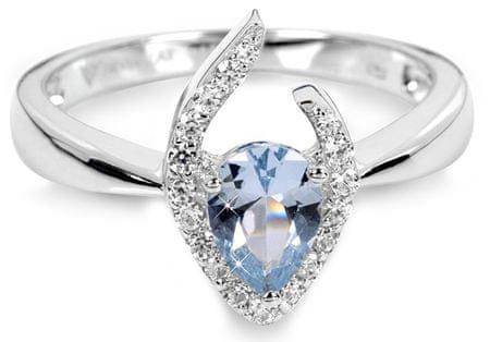 Silver Cat Srebra pierścień z niebieskim krystalicznej SC115 (obwód 52 mm) srebro 925/1000