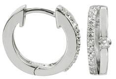 Silver Cat Stříbrné náušnice s krystaly SC120 stříbro 925/1000